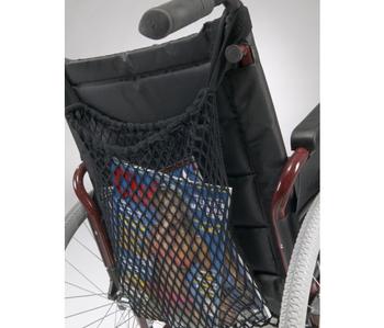Filet à provisions pour chaise roulante.
