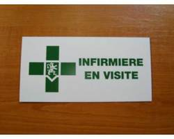 Caducée/plaque infirmière en visite