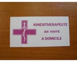 Caducée/plaque kinésithérapeute en visite