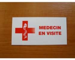 Caducée/plaque médecin en visite